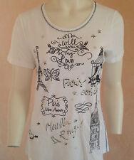 NICE CONNECTION, PARIS,Shirt-Bluse,T-shirt  ++NEU+ Gr. 46;  Baumwolle,weiss