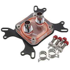 Computer Water Cooling CPU Block Head with Fast Twist Connector Copper 50mm Base