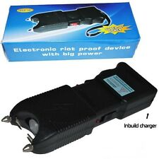 Black Stungun & Holster 2,000,000 Volt Stun Gun w/ Built-in Charger LED Light