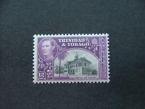 Trinidad & Tobago KGVI 1944 12c black & slate-purple SG252a MM