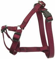 """12"""" to 20"""" Dog Harness, Small for 10 - 45 lb Dogs, Burgundy"""
