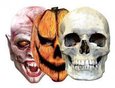 6 x Horror Mask Pack - Pumpkin & Vampire - Skull Masks