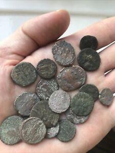 20 Genuine Roman Coins metal detecting finds Uk British 3-4th C
