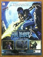 Legacy of Kain: Soul Reaver 2 PS2 2001 Vintage Print Ad/Poster Official Art Rare