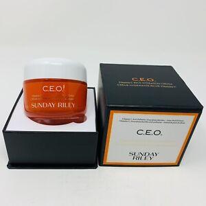 Sunday Riley CEO C.E.O. Vitamin C Rich Hydration Cream Full Sz 1.7oz NIB RV$65
