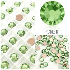 Genuine Swarovski Peridot Green HOTFIX Flatback Crystals SS12 SS16 SS20 SS34
