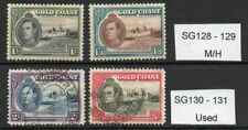 Gold Coast George VI SG128 to SG131