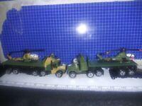 ILot Of 2 Vintage Galoob Micro Machines Deluxe Military Semi Truck Original 1989