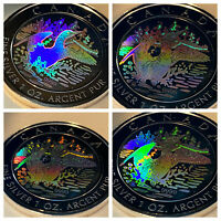 99.99% Pure SILVER BEAUTIFUL Canada Loon Hologram  Coin $5