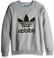 adidas Originals Men's Trefoil Crew Sweatshirt, Black, Size Medium lZW3