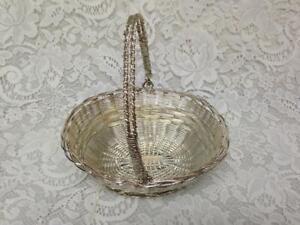 Vintage Beautiful, 7.5in L x 6in Wx 3.5in H Silver Metal Basket