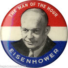1952 Dwight Eisenhower MAN OF THE HOUR Campaign Button (1004)