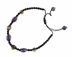 Bracelet Macrame Amethyst Stone Real Creation Hand Made 21271