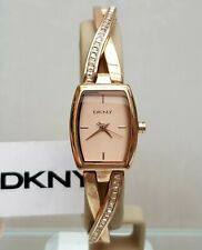 DKNY Ladies Designer Watch Rose Gold Crystal Twisted bracelet RRP £169 (553)
