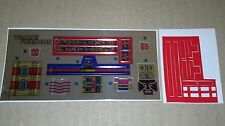 A Transformers complete premium replacement sticker/decal sheets for G1 Ratchet