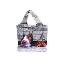 Springer Spaniel design Shopping Bag Fold Away in Clip on pouch Reusable Bag