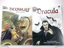 Dover Books Lot- Color Your Own Graphic Novels Beowulf & Dracula Bram Stoker