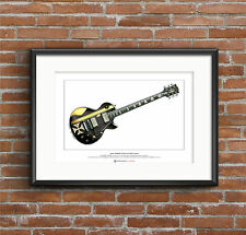 James Hetfield's Gibson Les Paul Iron Cross Ltd Edition Fine Art Print A3 size
