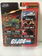 "Jada Nano Hollywood Rides: 1.65"" G.I. Joe Vehicle 3-PC Set Collection"