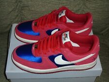 Mens Nike Air Force 1 Low Barber Shop Scissors Red/Blue Sneakers Size 11 - VRHTF