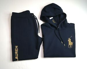 POLO RALPH LAUREN Men's Big Gold Pony Double Knit Hoodie & Pant Set NEW NWT
