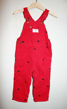 Girls OSHKOSH Red Corduroy Scottie Dogs Embroidered...