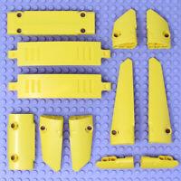 Lego 12x Genuine Technic Bright Yellow Studless Panels Fairings Bricks Parts NEW