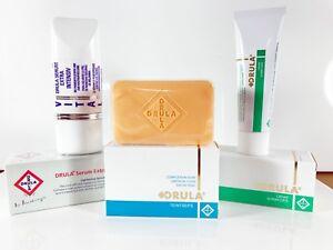 Drula Vital Strong Skin Lightening Whitening Cream + Serum + Soap Set Shortlife