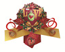 With Love Petite Christmas Pop-Up Greeting Card Second Nature 3D Pop Up Cards