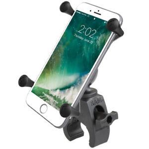 RAM Tough-Claw Handlebar Rail Mount w/ X-Grip Holder, Fits Large Cell Phones GPS