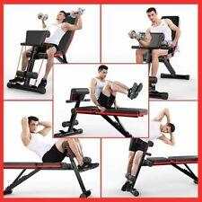 Fitness Hantelbank Trainingsbank mit verstellbarem Rückenkissen und Zugseil DHL