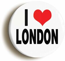 I HEART LOVE LONDON BADGE BUTTON PIN (Size is 1inch diameter) TOURIST SOUVENIR