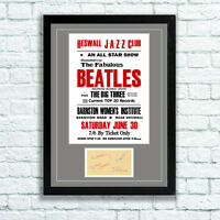 The Beatles Concert Poster and Autographs Memorabilia Poster Heswall Jazz Club