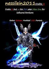 DIABLO 3 ps4/XBOX ONE-barbaro/Barbarian-portali 150 100% immortale/immortal