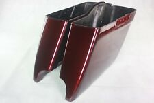 "Mysterious red sunglo 4.5""dual cut bottom Saddlebag for 2014-2018 harley touring"