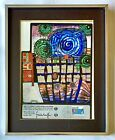 Hundertwasser Escape of the Indoor Sky Lithograph Stamp Seal Vintage 80s Art UN