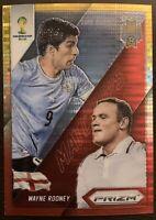Wayne Rooney/Luis Suarez Panini Prizm World Cup Golden Prizm/Refractor Insert