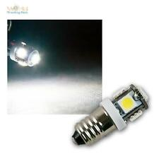 10 x LED Leuchtmittel E10 kaltweiß, 12V, 5x 5050 SMD, Birne Lampe Glühbirne weiß