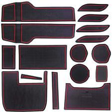 Custom Fit Cup Holder, Door Liner Accessories For 2016-2020 Honda Civic Red Trim