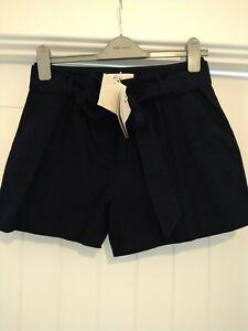 Boden Navy Tailored Linen Shorts Sz 8 BNWT