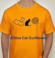 Grateful Dead t shirt China Cat Sunflower Jerry Garcia Vintage Style S-5Xlg gold