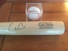 Evan Gattis Marucci Handcrafted Longest Home Run 2013 Autographed bat + Ball