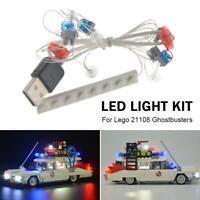 For Lego 21108 Ghostbusters Ecto-1 Lighting Bricks USB Port LED Light Kit