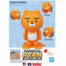 Kakao Friends x Bandai Plastic Model Standing Ryan Heart and Penlight Figure NIB
