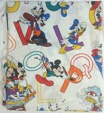 Mickey Minnie Donald Goofy Alphabet Full Flat Bed Sheet 2 Pillowcases Vintage