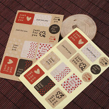 Seal Label 26pcs Just For You Stickers For Gift Cup Box Bag Party Decoration