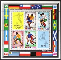 AT143 BARBUDA 1974 Soccer, World Cup Munich S/S Mint NH