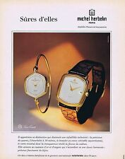 PUBLICITE ADVERTISING 114 1980 MICHEL HERBELIN  montres