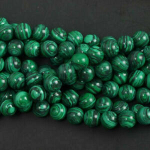 Wholesale Natural 6mm malachite Gemstone Round Loose Beads