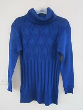 BEAUTIFUL ,NEW  BLUE WITH SILVER METALIC  THREAD SIZE APPROX 80CM BUST